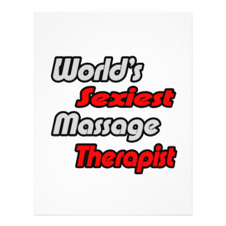World s Sexiest Massage Therapist Full Color Flyer