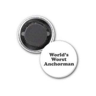 World s Worst Anchorman Refrigerator Magnets