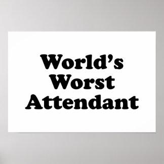 world s Worst Attendant Print