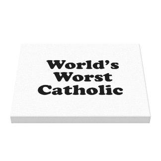 World s Worst Catholic Canvas Prints