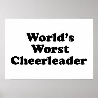 World s Worst Cheerleader Print