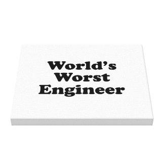 World s Worst Engineer Gallery Wrap Canvas