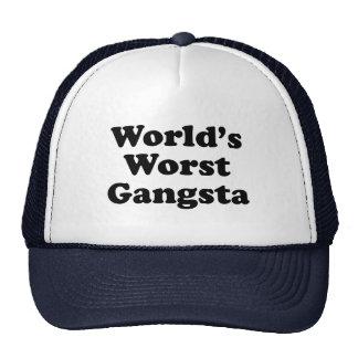 World s Worst Gangsta Mesh Hat