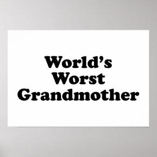 World s worst grandmother print