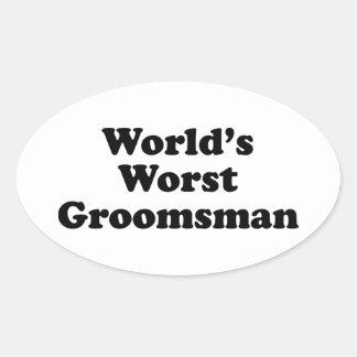 World s Worst Groomsman Sticker