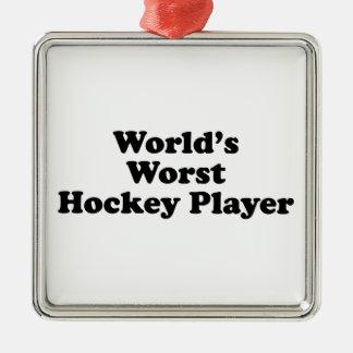 World s Worst Hockey Player Christmas Tree Ornament