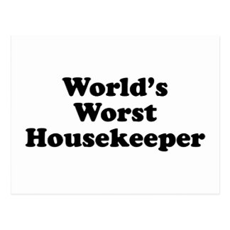 World s Worst Housekeeper Post Cards