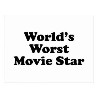 World s Worst Movie Star Postcard