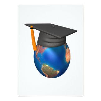 World Scholar 13 Cm X 18 Cm Invitation Card