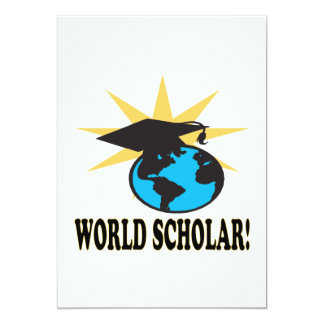 World Scholar 3 13 Cm X 18 Cm Invitation Card