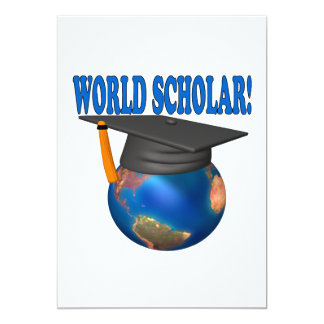 World Scholar 4 13 Cm X 18 Cm Invitation Card