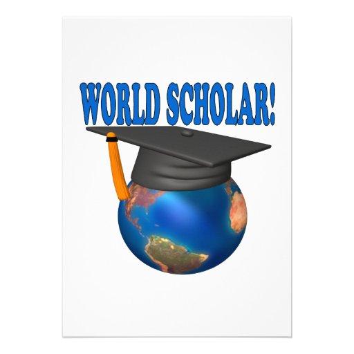 World Scholar 4 Personalized Invitations