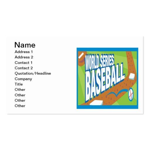 World Series Baseball Business Cards