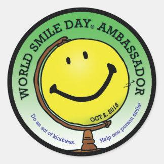 World Smile Day® 2015 Ambassador Stickers