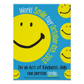 World Smile Day Poster 12x16