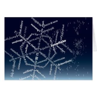 World Snowflake Card