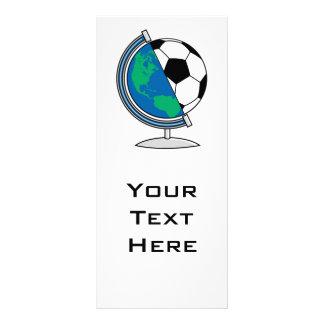 world soccer globe customised rack card