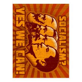 World socialism leaders postcard