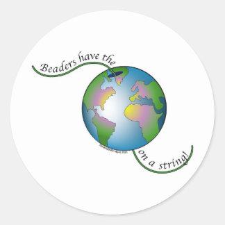 World String Round Sticker