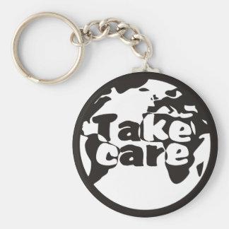 World TakeCare Basic Round Button Key Ring