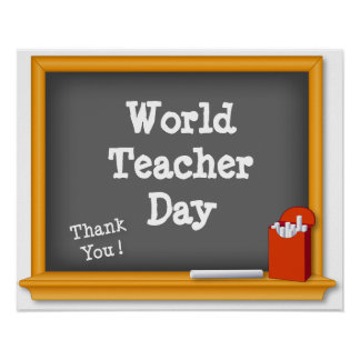 World Teacher Day Poster, Thank You! Blackboard Poster