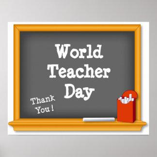World Teacher Day Poster, Thank You! Poster