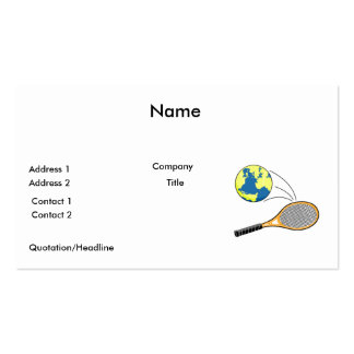 world tennis sports design pack of standard business cards