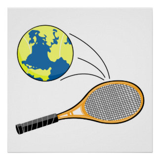 world tennis sports design poster