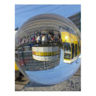 World Time Clock, Alex, Berlin, crystal ball Postcard