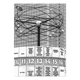 World Time Clock, Alexanderplatz, Berlin, B & W (W Pack Of Chubby Business Cards