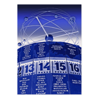World Time Clock,Alexanderplatz,Berlin,in Blue Business Card Template