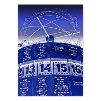World Time Clock,Alexanderplatz,Berlin,in Blue Pack Of Chubby Business Cards