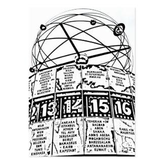 World Time Clock,Alexanderplatz,Berlin,Sketch(1) Pack Of Chubby Business Cards