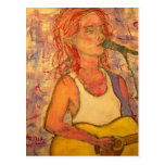 World Tour acoustic girl Postcard