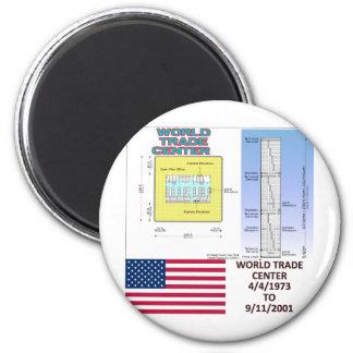 World Trade Center Floor Plans Fridge Magnets