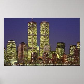 World Trade Center NYC at Night Poster