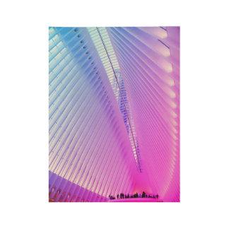 World Trade Center Transportation Hub, NY Wood Poster