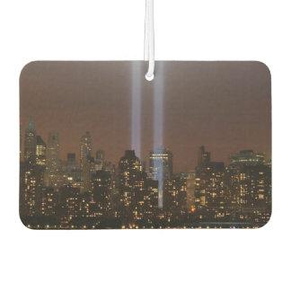 World trade center tribute in light in New York. Car Air Freshener