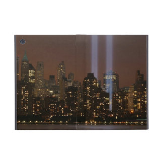World trade center tribute in light in New York. Cover For iPad Mini