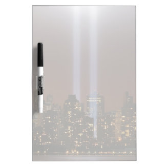 World trade center tribute in light in New York. Dry Erase Board
