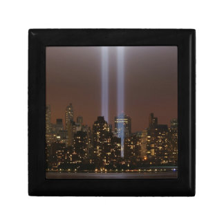 World trade center tribute in light in New York. Gift Box