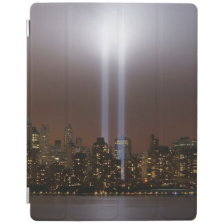 World trade center tribute in light in New York. iPad Cover