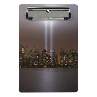 World trade center tribute in light in New York. Mini Clipboard