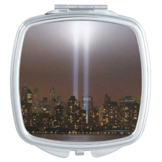 World trade center tribute in light in New York. Mirror For Makeup