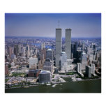 World Trade Centre and NYC skyline Poster