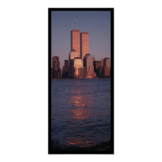 World Trade Centre at Sunset Poster