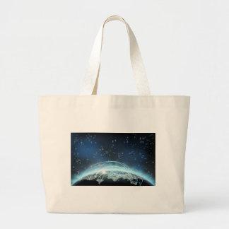World Trade Map Transport Logistics Concept Large Tote Bag