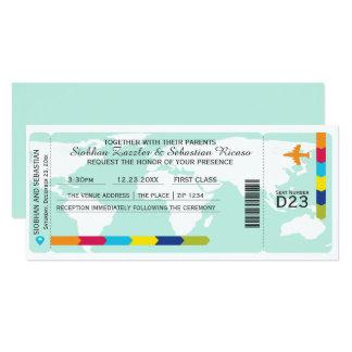 World Travel Boarding Pass Wedding Ticket Card