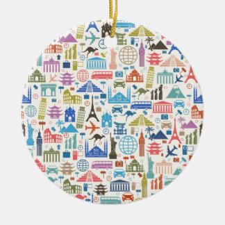 world travel christmas ornament