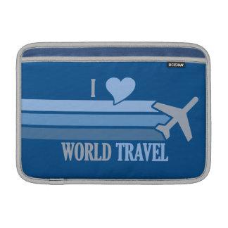 World Travel custom iPad / laptop sleeve